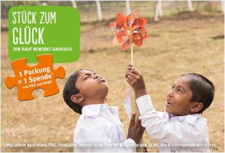 Stück zum Glück - Procter & Gamble und REWE unterstützen die Kindernothilfe in Bangladesch