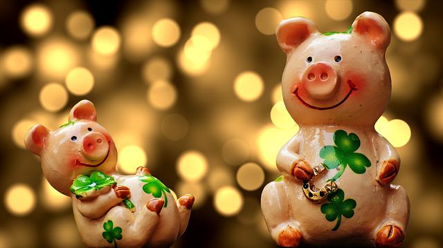Silvester Kinder Schweinchen
