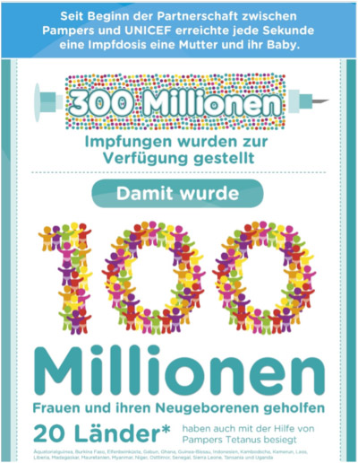 Pampers für UNICEF präsentiert: Gemeinsam gegen Tetanus